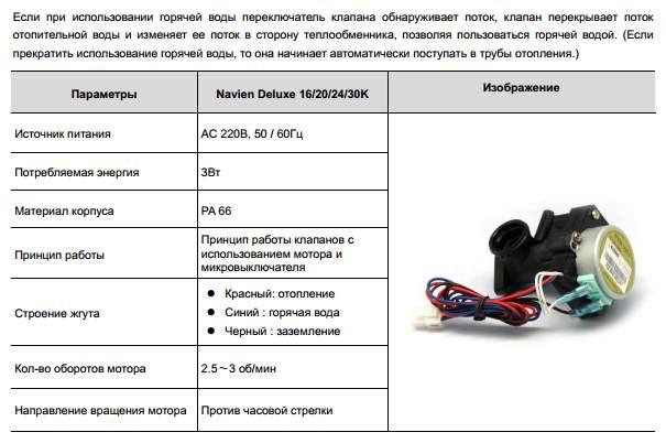 купить трехходовой клапан для котла Navien в Москве